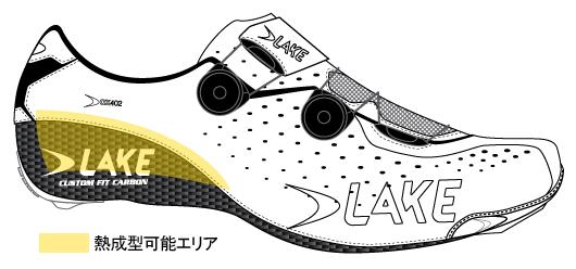 """LAKEカスタムフィットカーボン熱成形エリア"""
