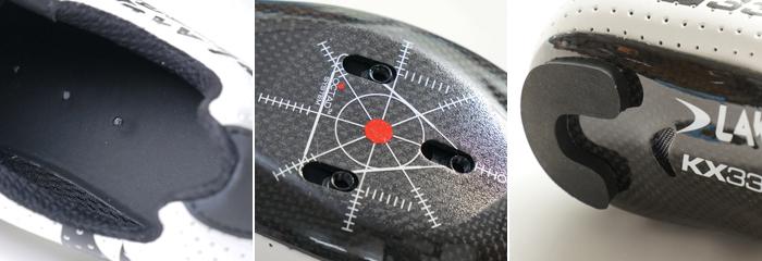 カンガルー革を模した人工皮革。サイクリングシューズのアッパー素材として最適。