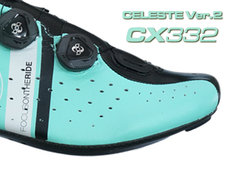 LAKE ビンディングシューズ サイクリングシューズ ロードシューズ CX332 チェレステ Version 2へ